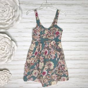 Pins & Needles UO Floral Mini Dress Cut Out Back